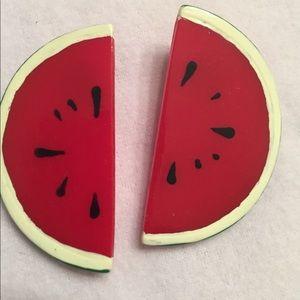 Cute Watermelon Pierced Earrings